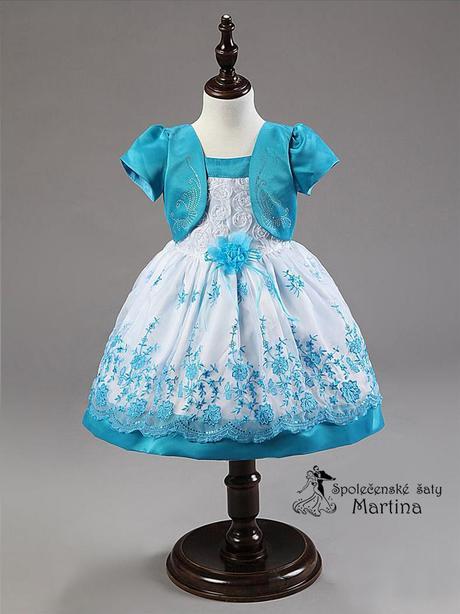 Společenské šaty pro družičku 1-5 let, 104