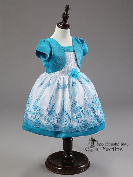 Společenské šaty pro družičku 1-5 let, 98