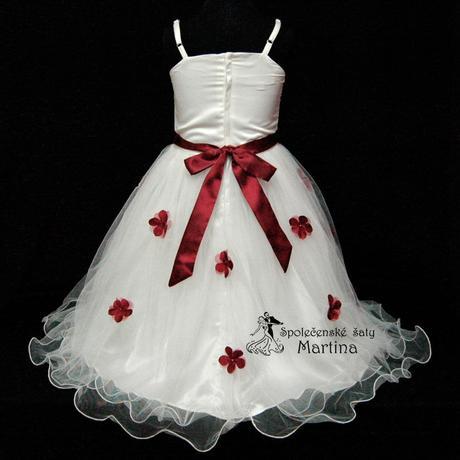 Společenské šaty pro družičku 1-6 let, 104