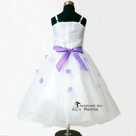 Společenské šaty pro družičku 1-6 let, 98