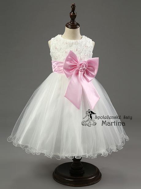 Společenské šaty pro družičku 2-10 let, 122
