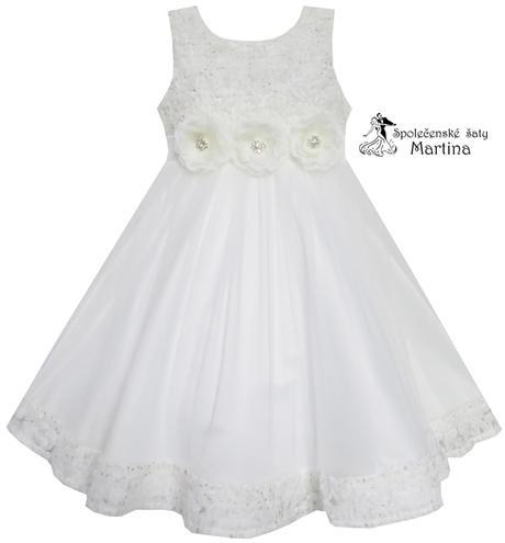 Společenské šaty pro družičku 2-10 let, 128