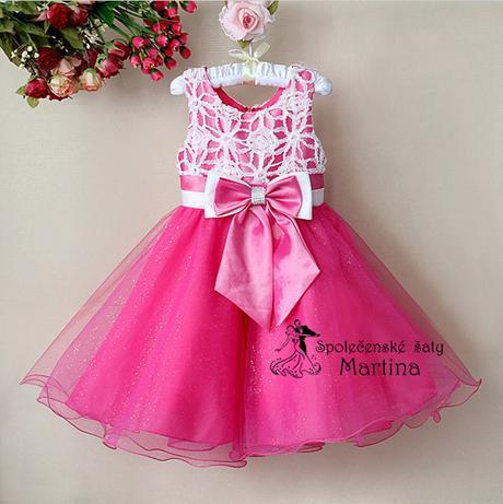 Společenské šaty pro družičku 2-7 let, 122