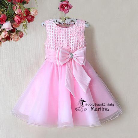 Společenské šaty pro družičku 2-7 let, 128