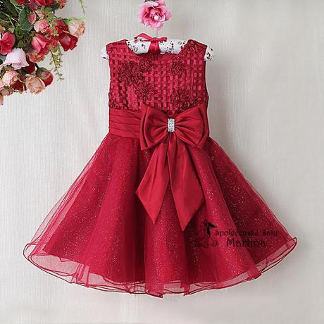 Společenské šaty pro družičku 2-7 let, 98