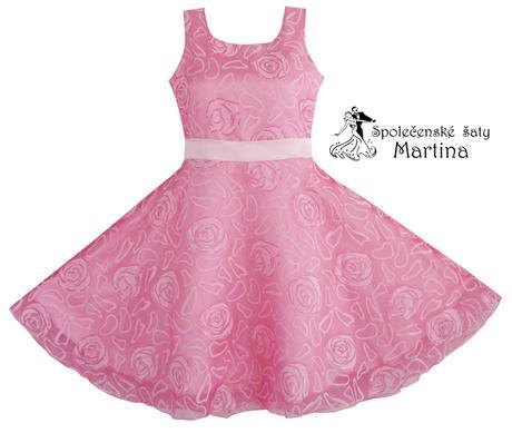 Společenské šaty pro družičku 3-12 let, 110