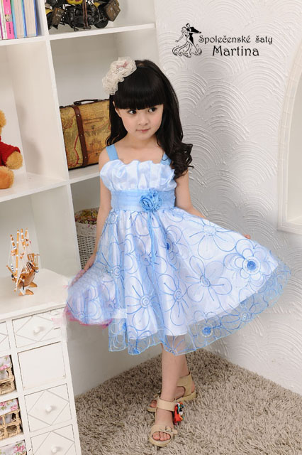 Společenské šaty pro družičku 3-7 let, 104