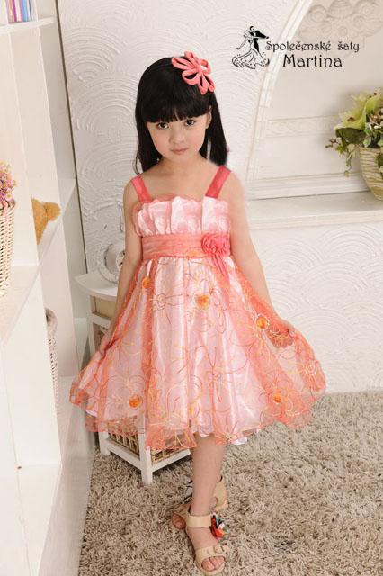 Společenské šaty pro družičku 3-7 let, 110