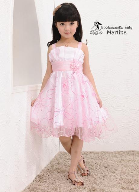 Společenské šaty pro družičku 3-7 let, 128
