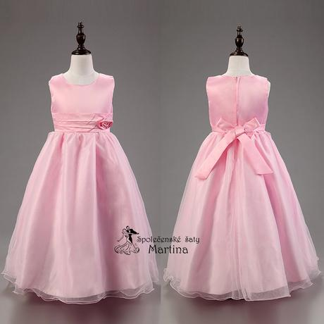 Společenské šaty pro družičku 3-9 let, 128