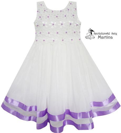 Společenské šaty pro družičku 4-10 let, 110
