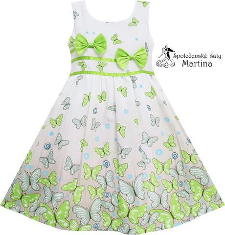 Společenské šaty pro družičku 4-12 let , 122