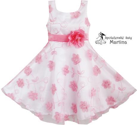 Společenské šaty pro družičku 4-12 let, 128