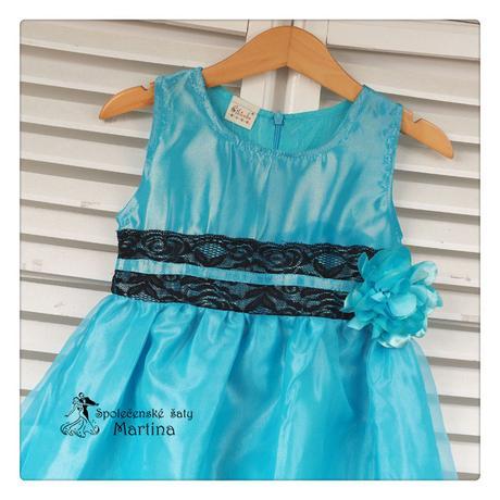 Společenské šaty pro družičku 4-9 let, 122