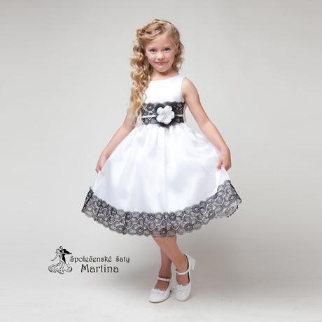 Společenské šaty pro družičku 4-9 let, 128