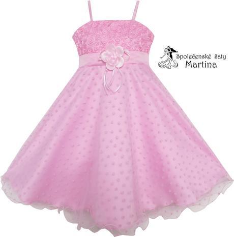 Společenské šaty pro družičku 5-8 let, 134