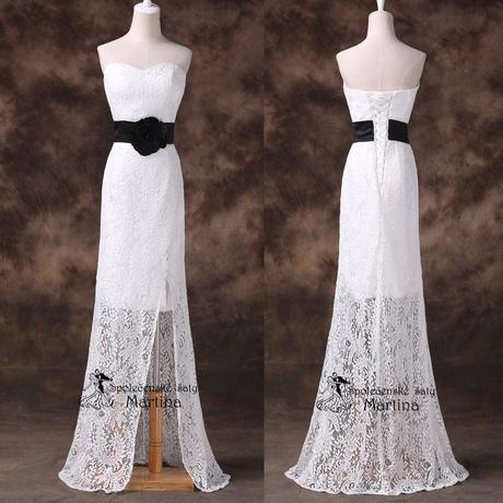 Svatební krajkové šaty, 46