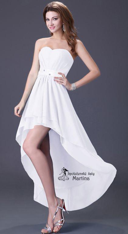 f2e069f2a0a5 Svatební šaty asymetrického střihu