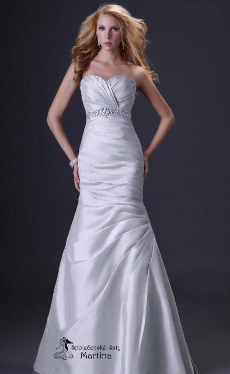 Svatební šaty bílo-stříbrné , 40
