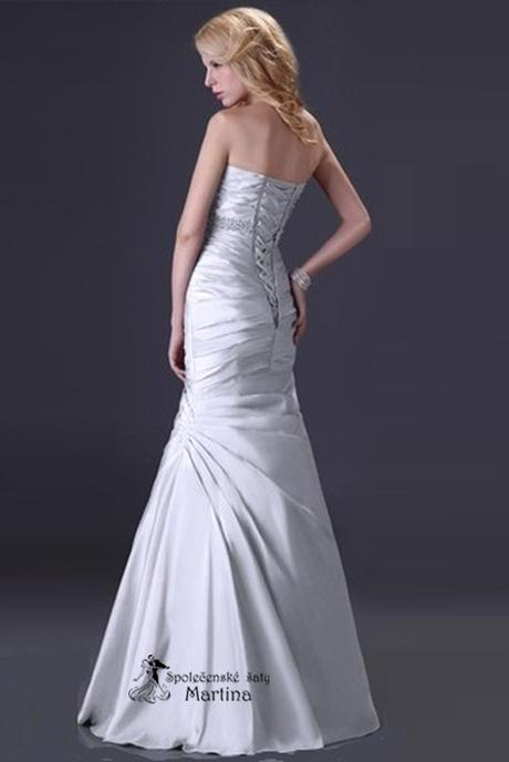 Svatební šaty bílo-stříbrné , 46