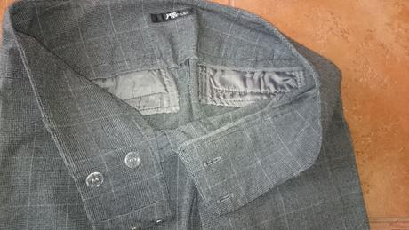 Společenské kalhoty s kostkou vel. 38 - S , 38