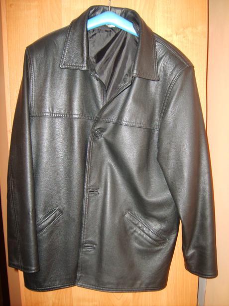 panská kožená bunda, L