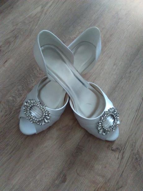 Biele svadobne topanky, 38