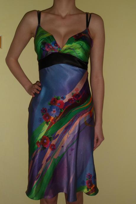 kvetované šaty L, L