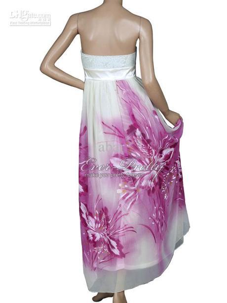 nádherné bielofialové šaty Ever pretty L, L