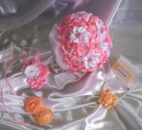 Kytica pre nevestu ružová, rôzne farby,
