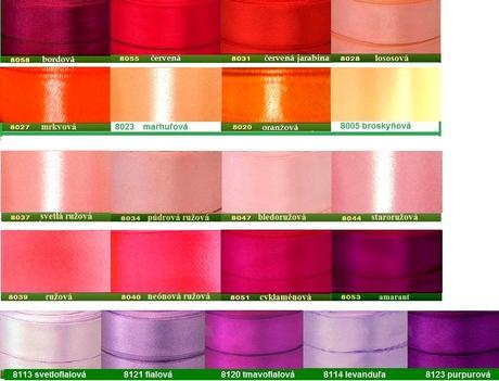 Mašličky pre svadobčanov - rôzne farby,