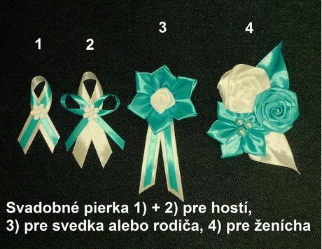 Svadobné pierko pre hostí so zicherajskou,