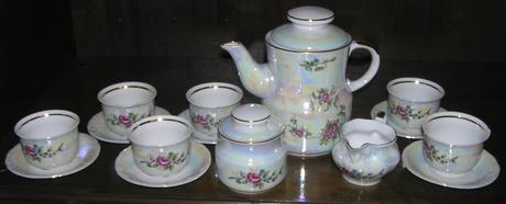 nádherná čajová súprava,
