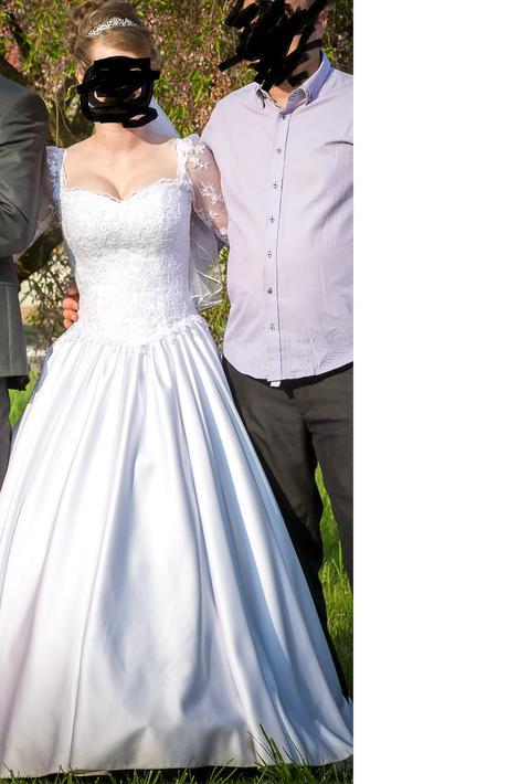 Krajkové svatební šaty vel.36 - 38, 38