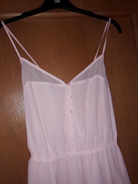 romantické ružové šaty S, 36
