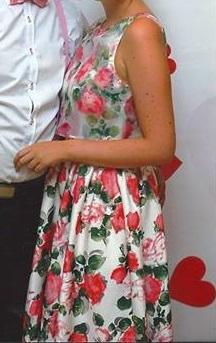 spoločenské/ plesové kvetované šaty, 38