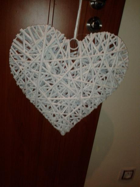 Ratanové srdce velké - 40x38 cm,