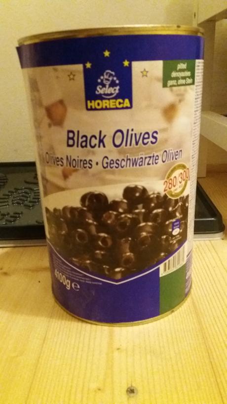 Olivy černé bez pecky 4kg,
