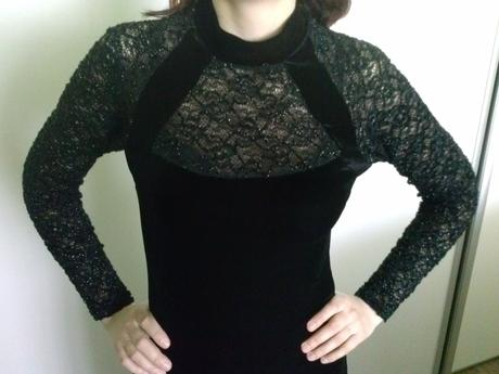 Spoločenské šaty - čierne, M