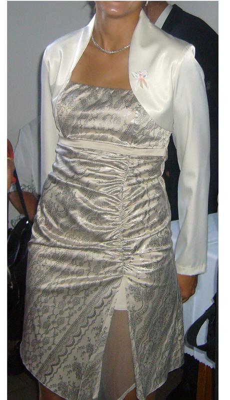 Spoločenské šaty na ramienka s bolerkom, 40