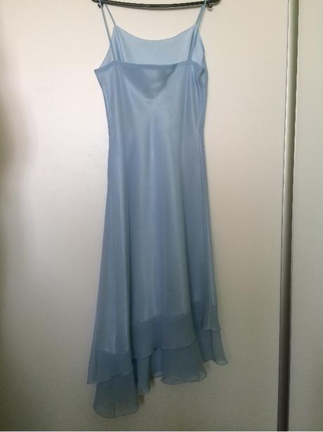 Spoločenské šaty - svetlomodré, M