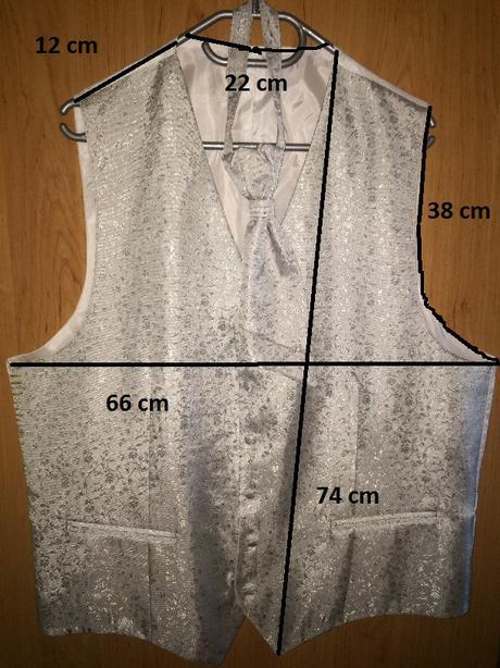 Svadobná vesta s francúzskou kravatou, 60