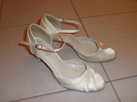 Svatební saténové boty, 38
