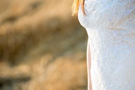 Krajkové vyšívané svatební šaty, 38