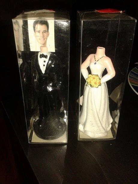 Figurky-ženich a nevěsta,