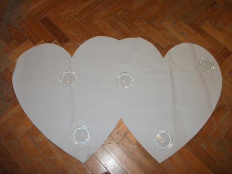 Šablony srdce- nadměrná velikost 140x90cm,