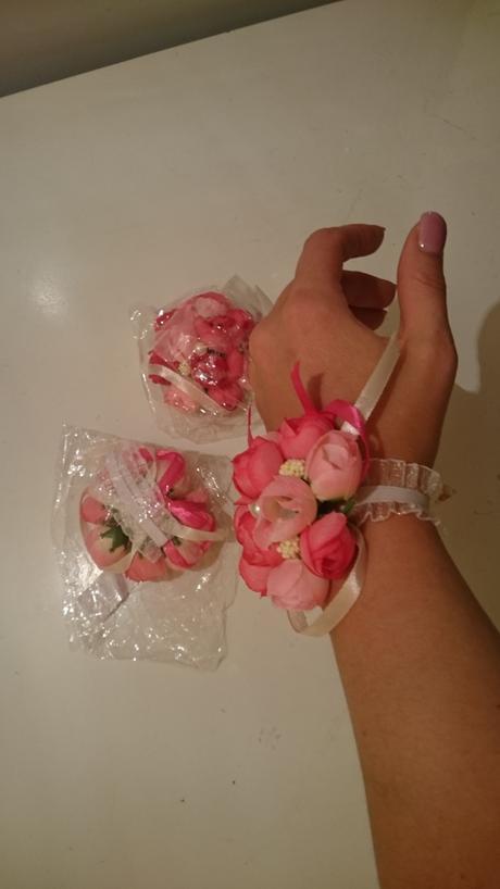 Květinové náramky, 3ks,