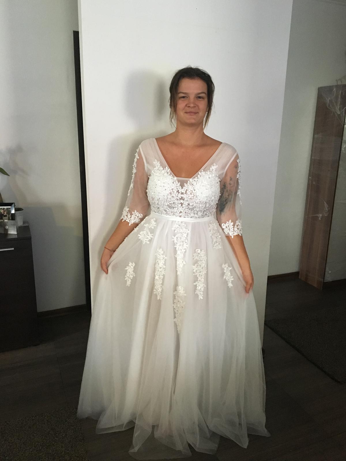 096d09d5277c Svadobné šaty veľkosť 40-42