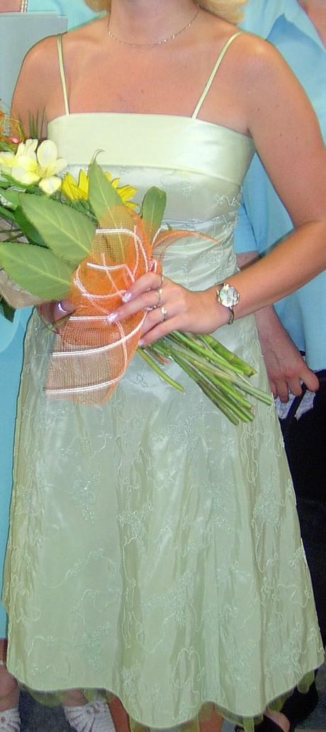 elegantné zelené šaty v.38, 38
