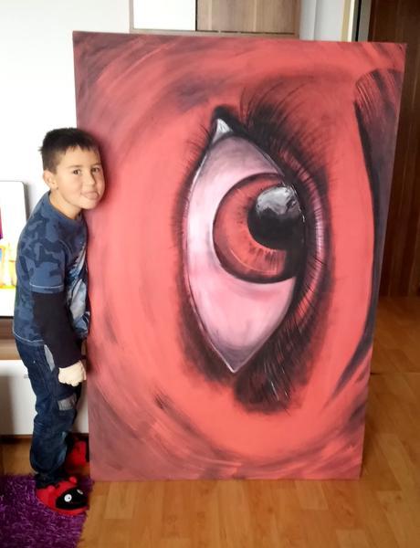 maľovaný obraz veľkosť 1.5m x 1m,